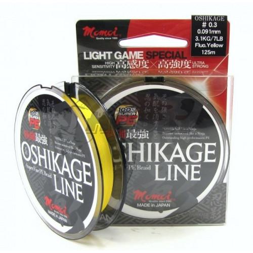 Oshikage 0.064mm/2.0kg/4.5lb/0,15g 125m žltá