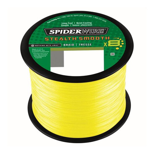 Spider Wire Stealth Smooth 8 Yellow 2000m