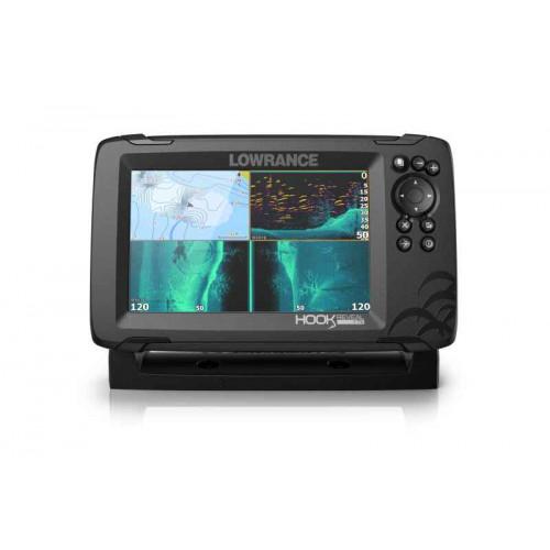 Lowrance Hook Reveal 7 Tripleshot ROW s GPS