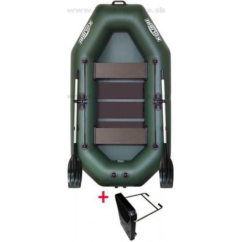 Čln Kolibri K240 T zelený + držiak