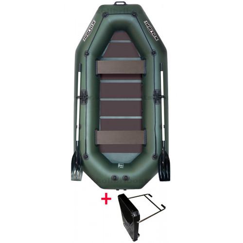 Čln Kolibri K280 CT zelený + držiak