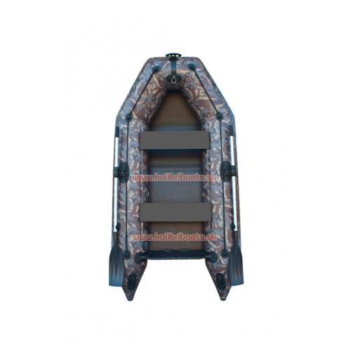 Čln Kolibri KM-260P pevná podlaha kamufláž