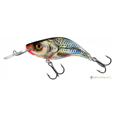 Sparky Shad 4cm Silver Holographic Shad SS4s