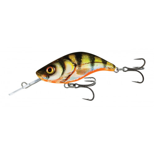 Sparky Shad 4cm Yellow Holographic Perch SS4S