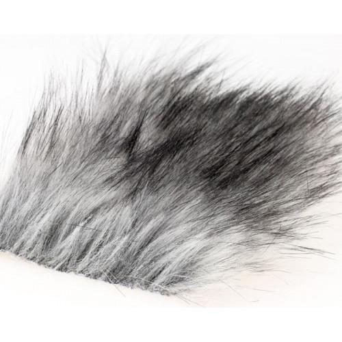 Craft Fur Medium, Silver Gray Fur 100x140mm