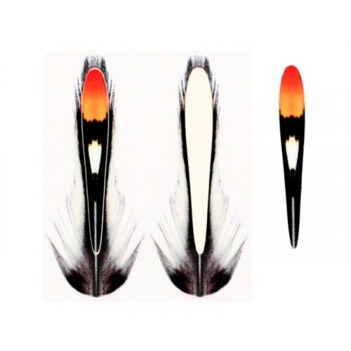 Jungle Cock Substitute orange 25mm