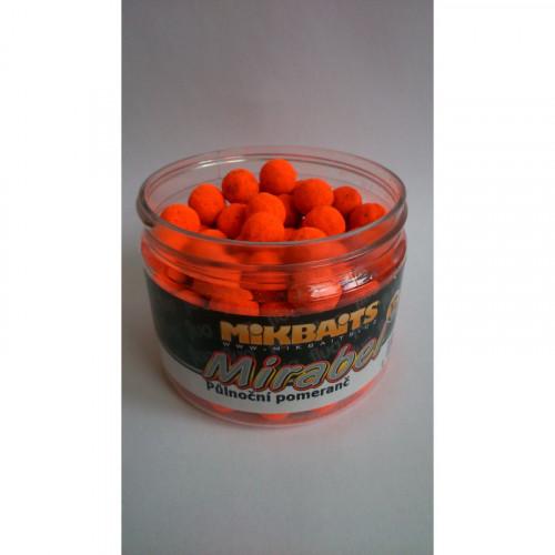 Mirabel Fluo boilie 150ml - Půlnoční pomeranč 12mm