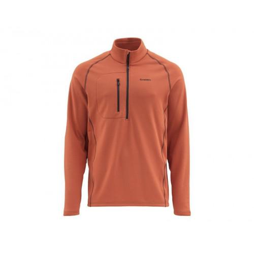 Fleece Midlayer Top Simms Orange