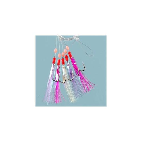 Multicolour flash 5-hooks size 3/0