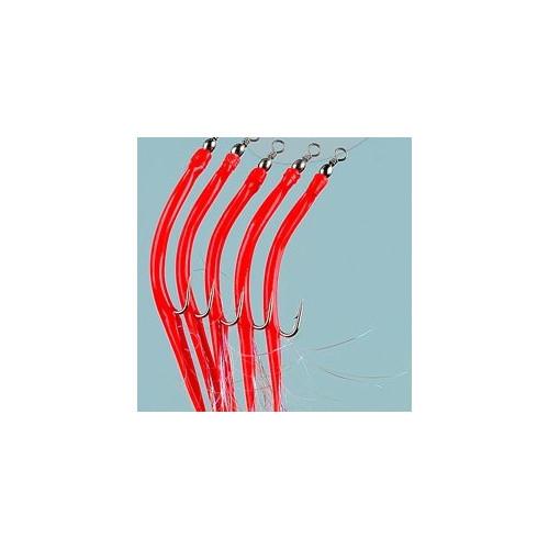 Rubber mac 5pcs 6/0 Red